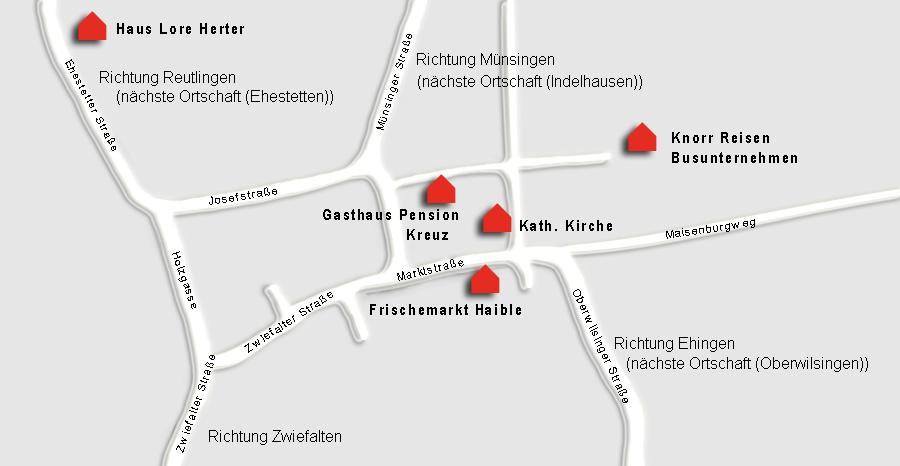 Anfahrt Gasthof, Pension, Hotel Kreuz Hayingen